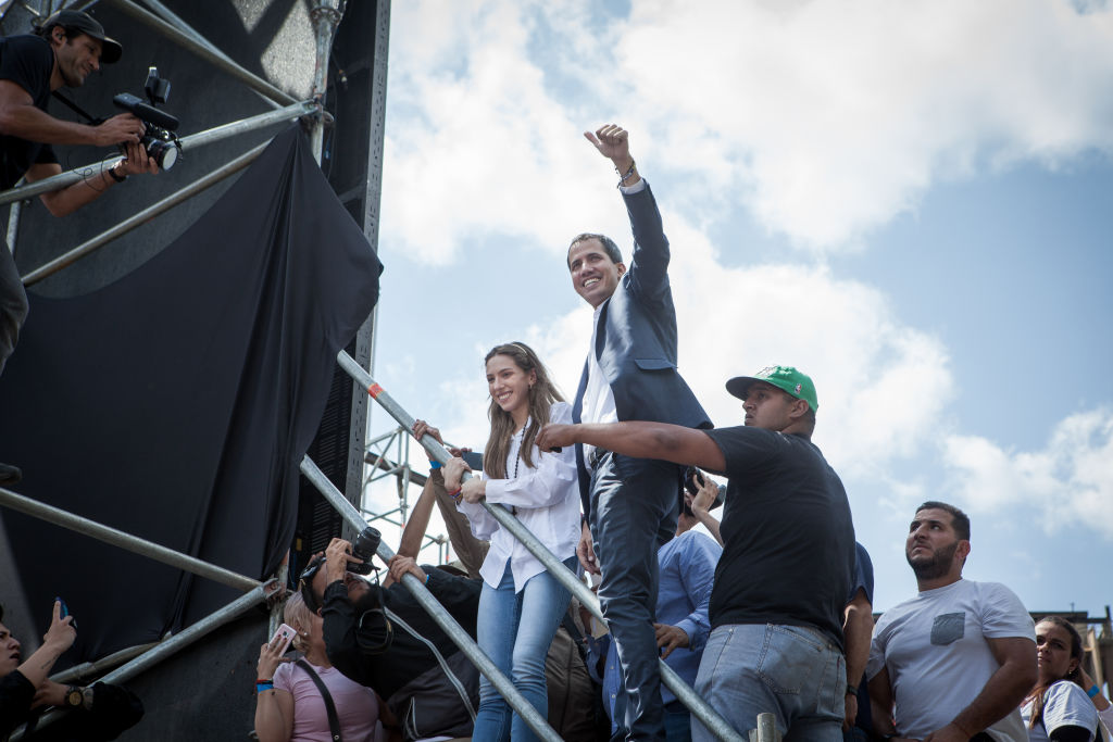Demonstration To Support Self-proclaimed Interim President Of Venezuela