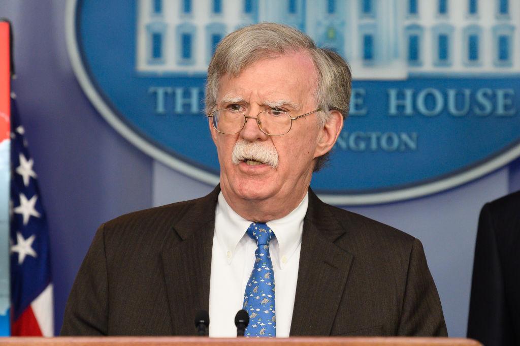 John Bolton, National Security Advisor of the United States...