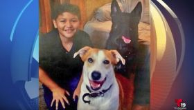 Niño Hispano con perrito