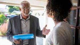 Senior Black Politician Door to Door