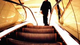 A man reaches the top of the escalator, 20 November 2004. NCH Picture by RYAN O