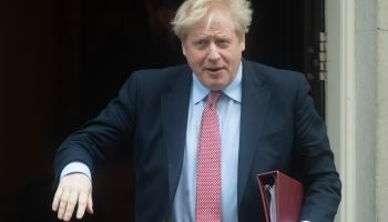 British Prime Minister Boris Johnson departs for PMQs - Downing Street, London, England, UK on Wedne...